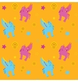 Unicorn Pegasus seamless pattern vector image