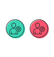 user protection line icon profile avatar sign vector image vector image