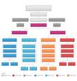 vertical organizational corporate flow chart vector image vector image