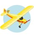 Vintage plane vector image vector image