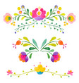 watercolor abstract flowers vector image