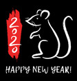 with chinese zodiac sign - rat decorative mouse vector image