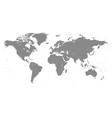 world map in grey color on white background high vector image