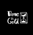 time is gold lettering for poster vector image