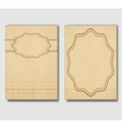 Set of vintage cards invitations or banners vector image
