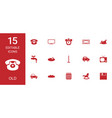 15 old icons vector image vector image