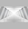 3d future modern concrete light corridor garage vector image vector image