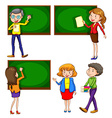 A coloured drawing of teachers vector image vector image