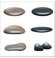 A set of stones vector image
