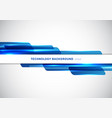 abstract header blue shiny geometric shapes vector image