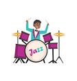 african american jazz musician wearing retro vector image vector image