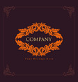 antique company engraving logo design vector image