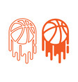 basketball with paint vector image vector image