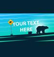 bear cartoon paper landscape vector image vector image