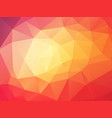 beautifully orange red geometric background vector image