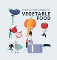 big harvest vegetables set vector image vector image