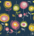 blooming flowers seamless pattern vector image vector image