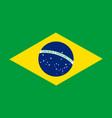 brazil flag official brasil icon national symbol vector image vector image
