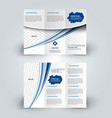 Brochure mock up design template tri-fold
