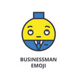 businessman emoji line icon sign vector image vector image