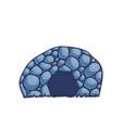 cartoon cave vector image vector image