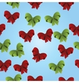 christmas gift bow pattern vector image vector image