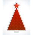 Christmas tree label design element vector image vector image