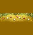 christmas yellow card vector image vector image