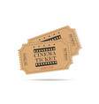 cinema ticket old set vector image vector image
