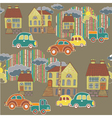city and town pattern vector image