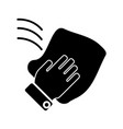 cleaning hand washcloth icon vector image vector image