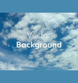cloud sky background vector image vector image
