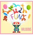 Clown with balloons vector image