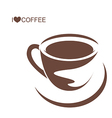 Coffee cup with plate vector image vector image