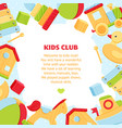 colorful banner for baby play club vector image vector image