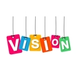 colorful hanging cardboard Tags - vision vector image