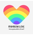 Conceptual logo with a rainbow heart vector image vector image