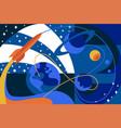 cosmos travel on spaceship vector image