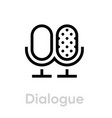 dialogue icon editable outline vector image vector image