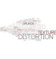 distortion word cloud concept vector image vector image