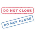 do not close textile stamps vector image vector image