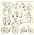 Ecology doodles icons set vector | Price: 1 Credit (USD $1)
