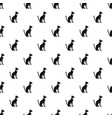 egyptian cat pattern vector image vector image