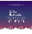 eid al adha mubarak islamic greeting card design vector image vector image