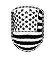 emblem with flag united states of america black vector image vector image