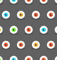 Eye Halloween pattern vector image