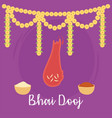 happy bhai dooj indian family celebration vector image vector image