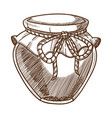 honey jar isolated sketch organic food apiary vector image vector image