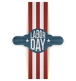 Labor Day Banner and Ribbon vector image vector image