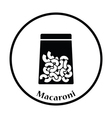 Macaroni package icon vector image